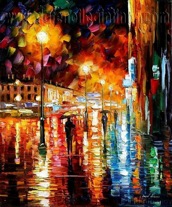 Modern impressionism palette knife oil painting on canvas kp003