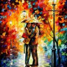 Modern impressionism palette knife oil painting on canvas kp007
