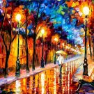 Modern impressionism palette knife oil painting on canvas kp008