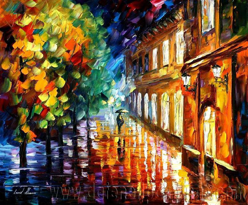 Modern impressionism palette knife oil painting on canvas kp009