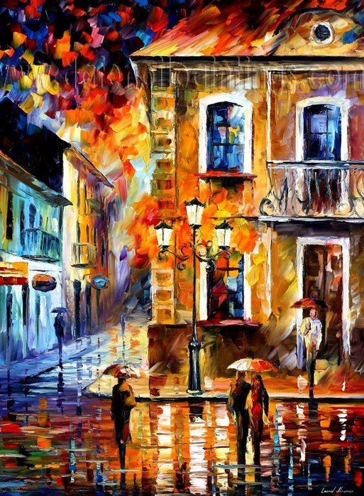 Modern impressionism palette knife oil painting on canvas kp010