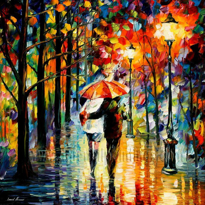 Modern impressionism palette knife oil painting on canvas kp013
