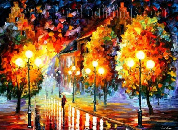 Modern impressionism palette knife oil painting on canvas kp016