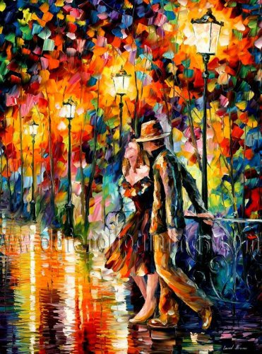 Modern impressionism palette knife oil painting on canvas kp017