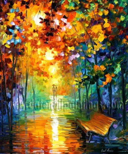 Modern impressionism palette knife oil painting on canvas kp019