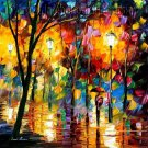 Modern impressionism palette knife oil painting on canvas kp021