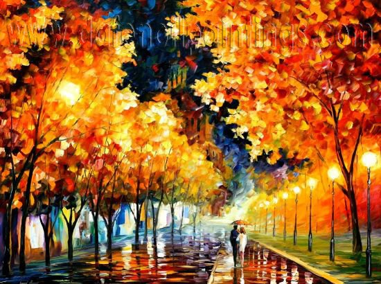 Modern impressionism palette knife oil painting on canvas kp022