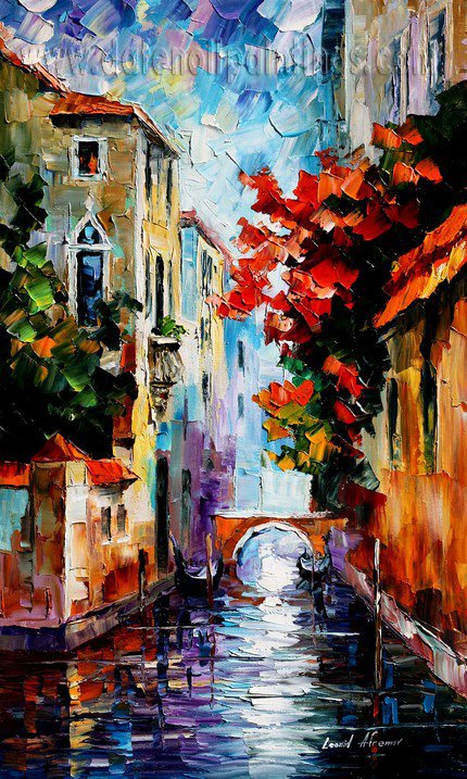 Modern impressionism palette knife oil painting on canvas kp032