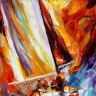 Modern impressionism palette knife oil painting on canvas kp033