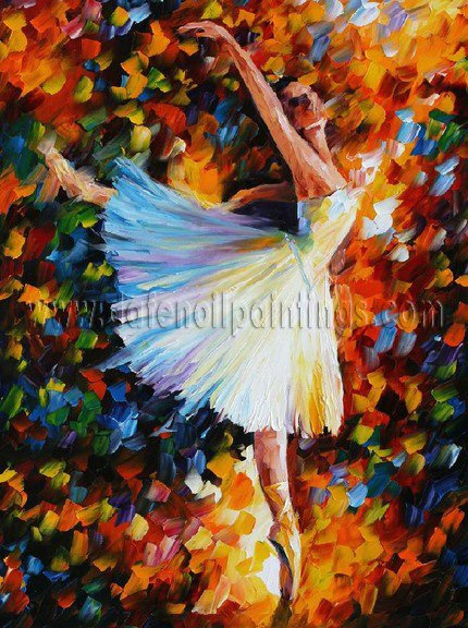 Modern impressionism palette knife oil painting on canvas kp035