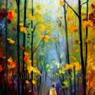 Modern impressionism palette knife oil painting on canvas kp054