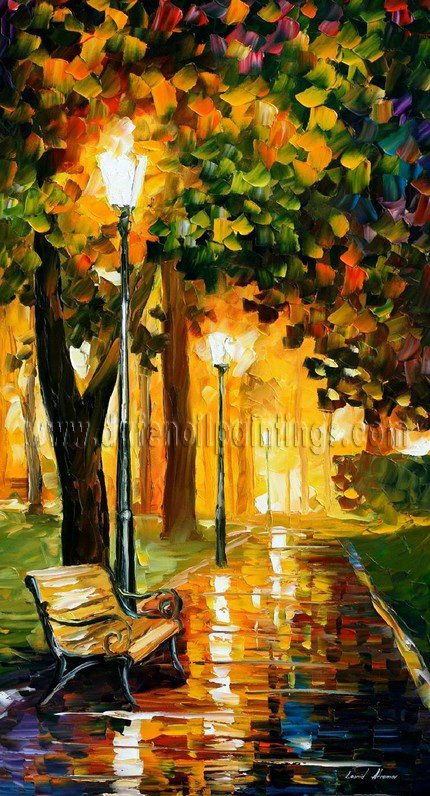 Modern impressionism palette knife oil painting on canvas kp055