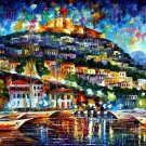 Modern impressionism palette knife oil painting on canvas kp056