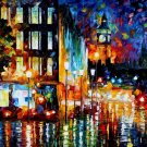 Modern impressionism palette knife oil painting on canvas kp057
