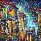 Modern impressionism palette knife oil painting on canvas kp063