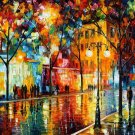 Modern impressionism palette knife oil painting on canvas kp065