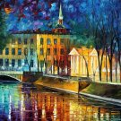 Modern impressionism palette knife oil painting on canvas kp066