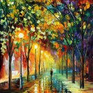 Modern impressionism palette knife oil painting on canvas kp068