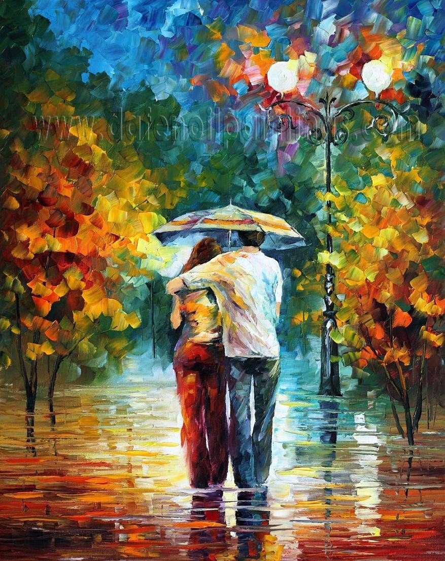 Modern impressionism palette knife oil painting on canvas kp069