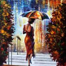Modern impressionism palette knife oil painting on canvas kp073