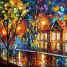 Modern impressionism palette knife oil painting on canvas kp078