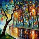 Modern impressionism palette knife oil painting on canvas kp079
