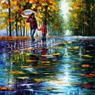 Modern impressionism palette knife oil painting on canvas kp087