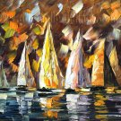 Modern impressionism palette knife oil painting on canvas kp092