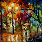 Modern impressionism palette knife oil painting on canvas kp102