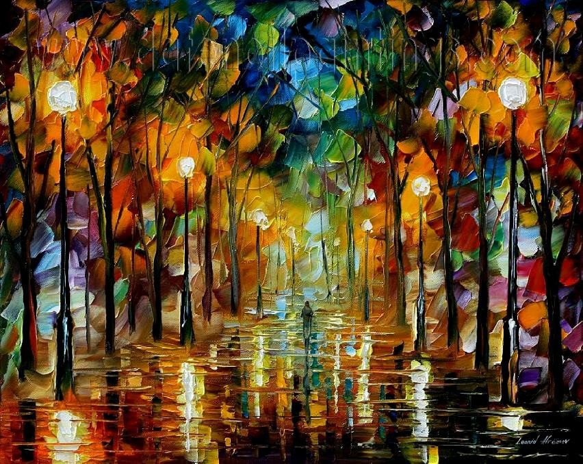 Modern impressionism palette knife oil painting on canvas kp103