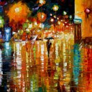 Modern impressionism palette knife oil painting on canvas kp106