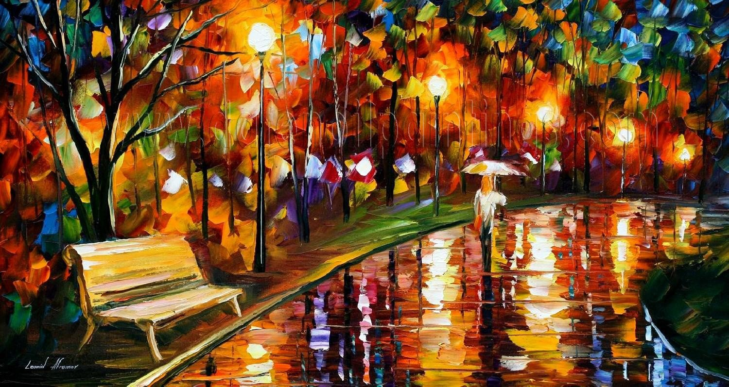 Modern impressionism palette knife oil painting on canvas for Modern artwork for home