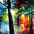 Modern impressionism palette knife oil painting on canvas kp109