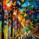 Modern impressionism palette knife oil painting on canvas kp129