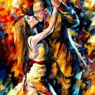 Modern impressionism palette knife oil painting on canvas kp131