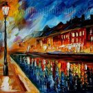 Modern impressionism palette knife oil painting on canvas kp134