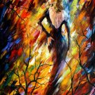 Modern impressionism palette knife oil painting on canvas kp136