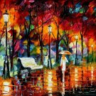 Modern impressionism palette knife oil painting on canvas kp137