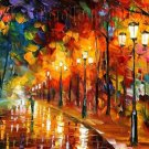 Modern impressionism palette knife oil painting on canvas kp141