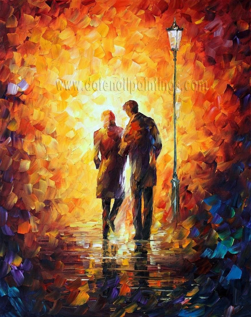 Modern impressionism palette knife oil painting on canvas kp142