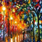 Modern impressionism palette knife oil painting on canvas kp147