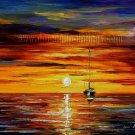 Modern impressionism palette knife oil painting on canvas kp148