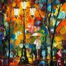Modern impressionism palette knife oil painting on canvas kp154