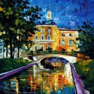 Modern impressionism palette knife oil painting on canvas kp158