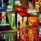 Modern impressionism palette knife oil painting on canvas kp160