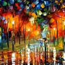 Modern impressionism palette knife oil painting on canvas kp167