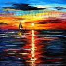 Modern impressionism palette knife oil painting on canvas kp168