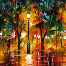 Modern impressionism palette knife oil painting on canvas kp171