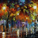 Modern impressionism palette knife oil painting on canvas kp175