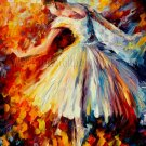 Modern impressionism palette knife oil painting on canvas kp176